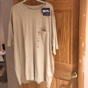 Other - 3x big and tall t shirt with pocket NWT